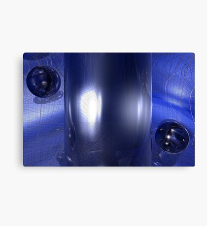 The Gap (Variation in Blue) Canvas Print