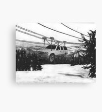 SUV Ski Lift Canvas Print