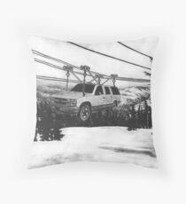 SUV Ski Lift Throw Pillow