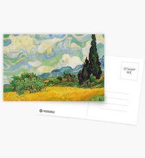 Vincent Van Gogh - Wheat Fields with Cypress Postkarten