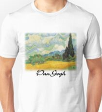 Vincent Van Gogh - Wheat Fields with Cypress Slim Fit T-Shirt