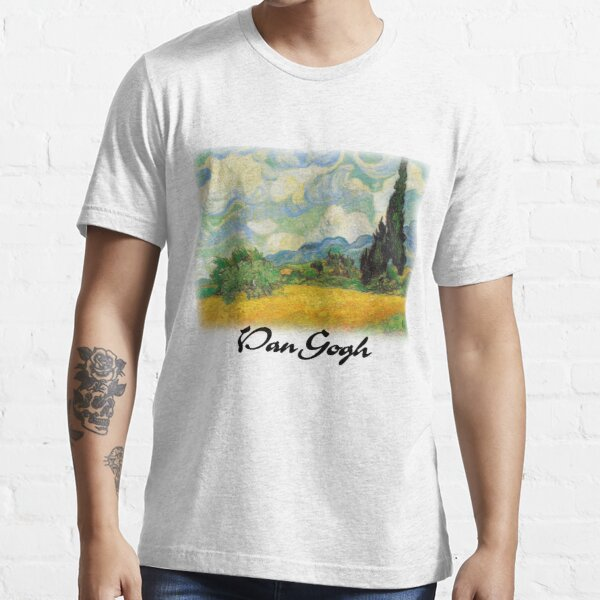 Vincent Van Gogh - Wheat Fields with Cypress Essential T-Shirt