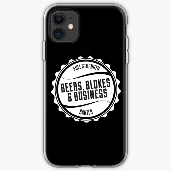 Beers, Blokes & Business Case iPhone Soft Case