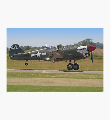 Curtiss P-40M Kittyhawk Touchdown - Shoreham 2013 Photographic Print