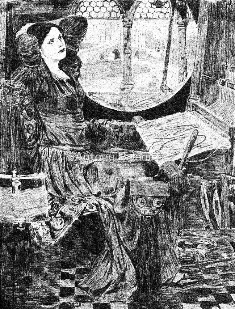 """I Am Half-Sick of Shadows,"" Said the Lady of Shalott after John William Waterhouse. by Antony R James"