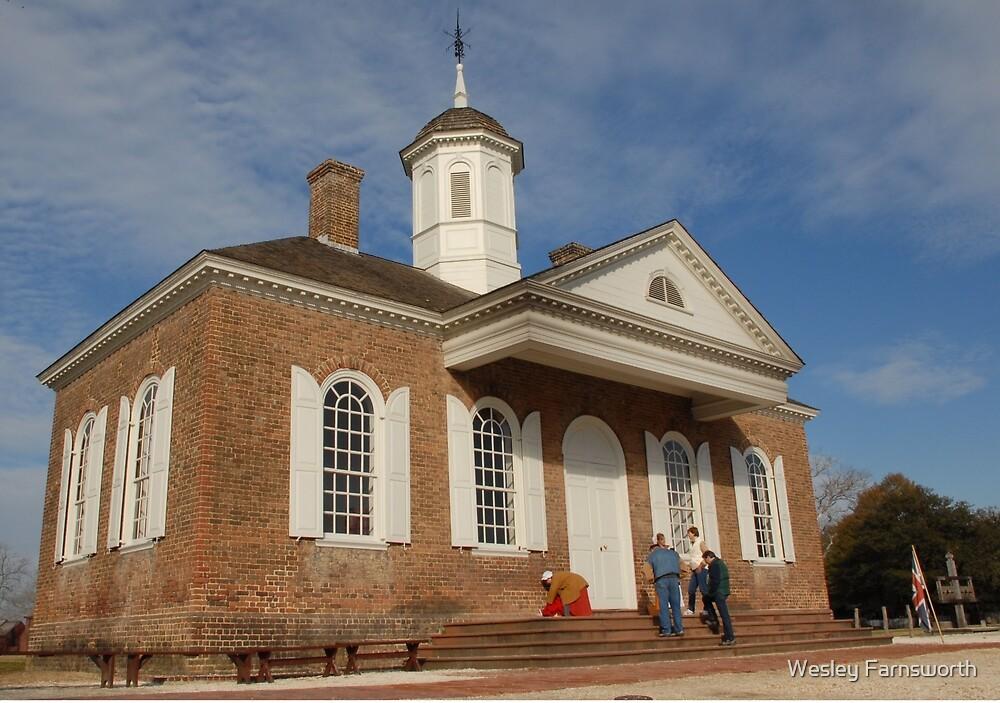Old building in Williamsburg, VA by Wesley Farnsworth