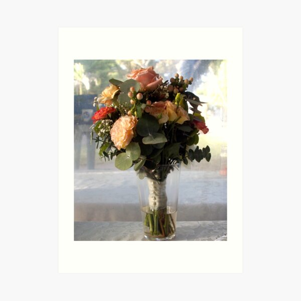 Brides Bouquet -  by Avril Thomas,Adelaide wedding venue, south australia wedding venue, adelaide hills wedding venue, fleurieu wedding venue. Art Print