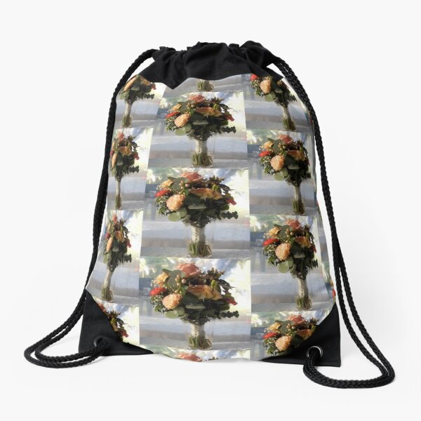 Brides Bouquet -  by Avril Thomas,Adelaide wedding venue, south australia wedding venue, adelaide hills wedding venue, fleurieu wedding venue. Drawstring Bag