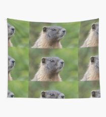 Marmot Portrait Wall Tapestry