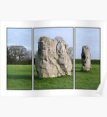 Avebury in Triptych  Poster