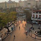 dusk-lit street, hanoi by chitrali