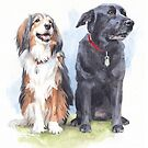 departed dog friends by Mike Theuer