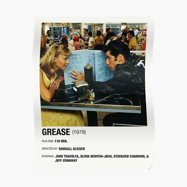 Grease (1978) Alternative Film Poster Poster Poster