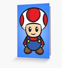 Mario Toad Greeting Card
