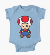Mario Toad Kurzärmeliger Einteiler