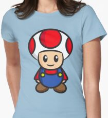 Mario Toad Women's Fitted T-Shirt