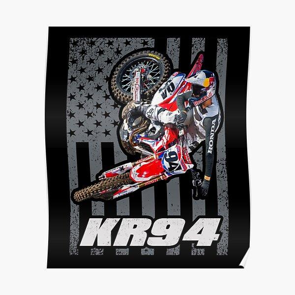 Ken Roczen KR94 Drapeau américain 450 94 USA Supercross Champion Poster