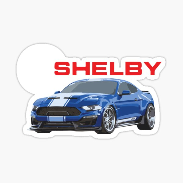 Shelby Racing Wreath Decal Sticker logo American Ford Mustang outline Pair