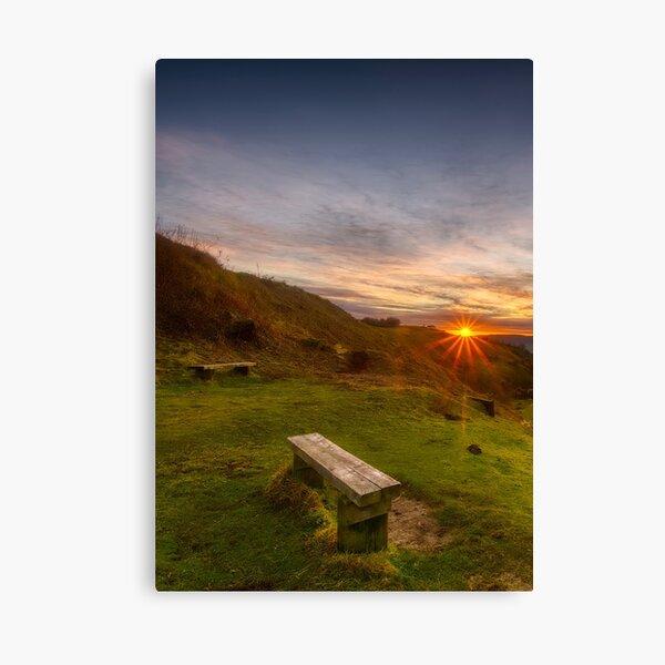 Cotswold Sunset portrait Canvas Print