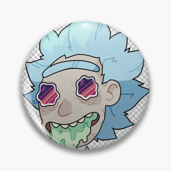 Drunk dad with blue hair Pin