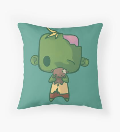 Baby Zombie Throw Pillow
