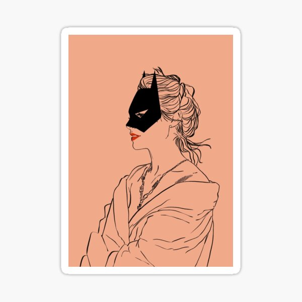 Bat dans Dusty Pink No. 1 Sticker