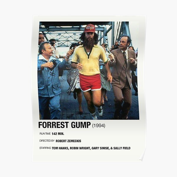 Forrest Gump 1994 Alternative Film Poster Poster Poster By Abarone03 Redbubble