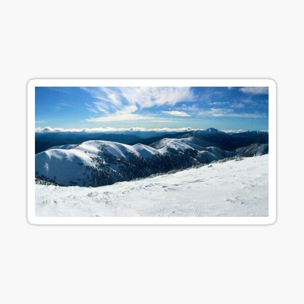 The Razorback to Mt Feathertop, Mt Hotham Sticker