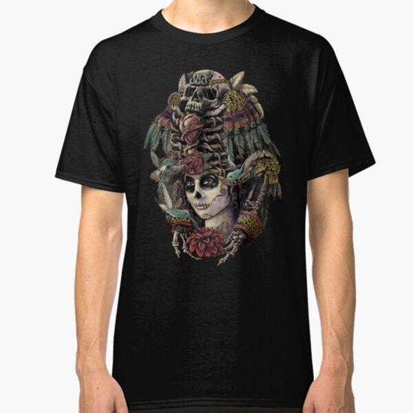 EVIL SUGAR SKULL LONG SLEEVE T-Shirt Tee ~ Dia de Muertos ~ Day of Dead Roses