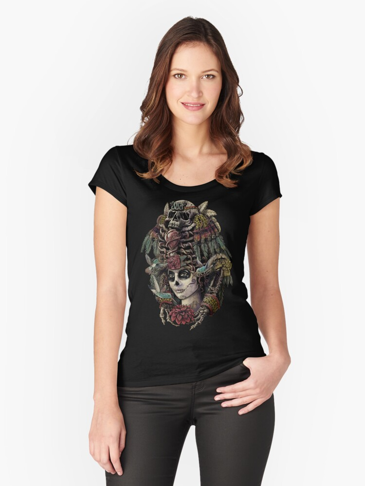 Day of the Dead (Ancient Guardians) Women's Fitted Scoop T-Shirt Front