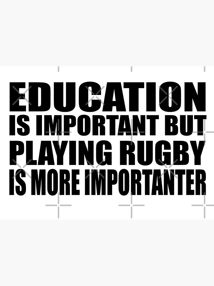 EDUCATION IS IMPORTANT BUT RUGBY IS IMPORTANTER FUNNY COTTON TOTE RUGBY,BAG