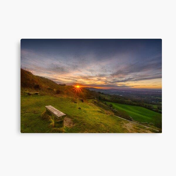 Cotswold Sunset landscape Canvas Print