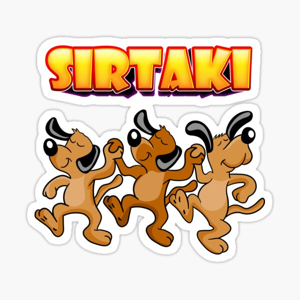 Sirtaki Dogs Sticker