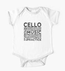 Cello Typography One Piece - Short Sleeve