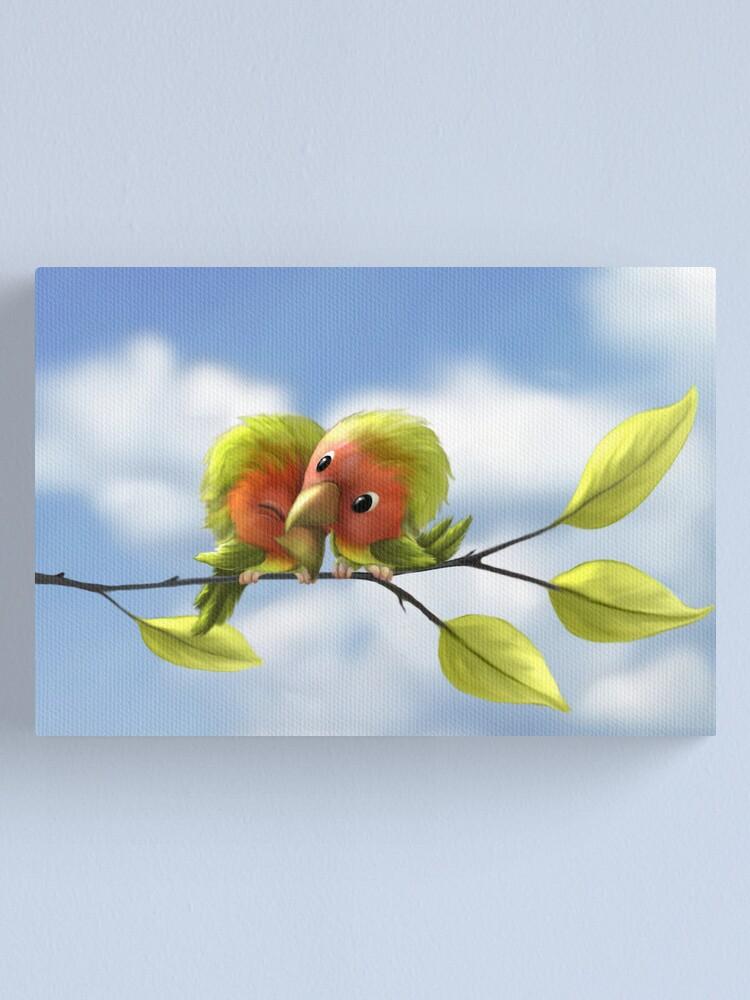 Alternate view of Lovebirds Canvas Print