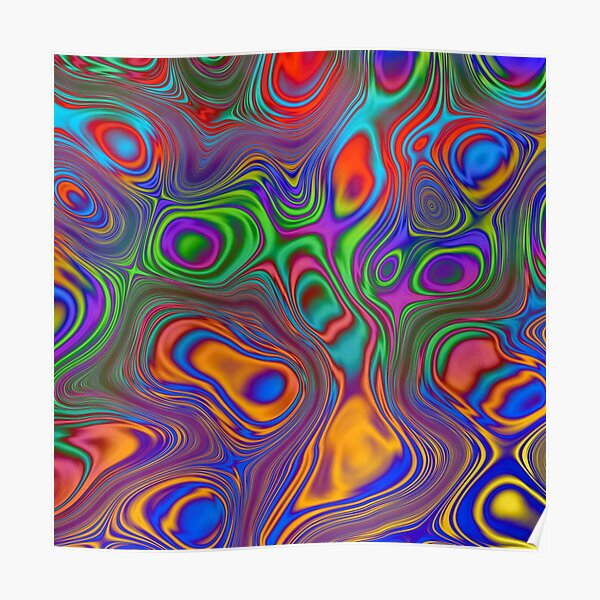 Psychedelic wave Poster
