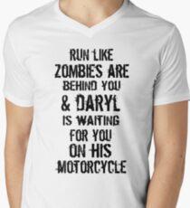Run Like Daryl Is Waiting Men's V-Neck T-Shirt