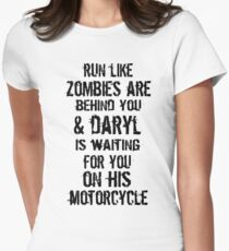 Run Like Daryl Is Waiting Women's Fitted T-Shirt