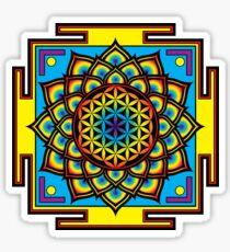 Flower of Life Psychedelic Mandala Sticker