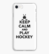 Keep calm and play Hockey  iPhone Case/Skin