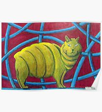 404 - MICHELIN MANX - DAVE EDWARDS - COLOURED PENCILS - 2014 Poster