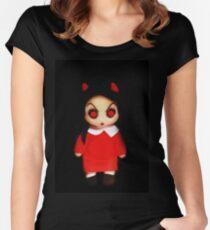 Sinderella the Cute Devilish Dark Gothic Doll  Women's Fitted Scoop T-Shirt