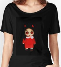 Sinderella the Cute Devilish Dark Gothic Doll  Women's Relaxed Fit T-Shirt