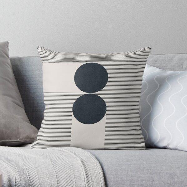 Mid Century modern Geometrical composition Throw Pillow