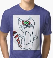 Mr Raccoon the Cool Cartoon Comic Friend Tri-blend T-Shirt