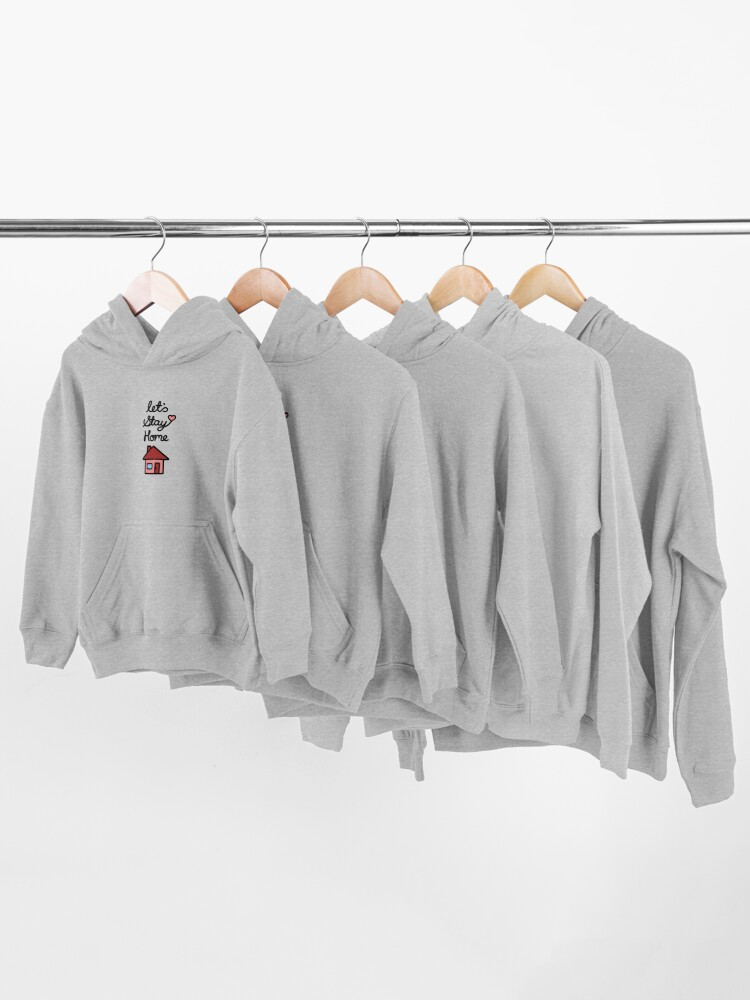 Alternate view of Let's Stay Home Kids Pullover Hoodie