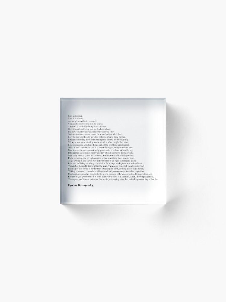 Alternate view of Fyodor Dostoyevsky Quotes Acrylic Block