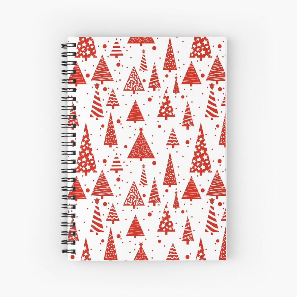 A Red Christmas Spiral Notebook