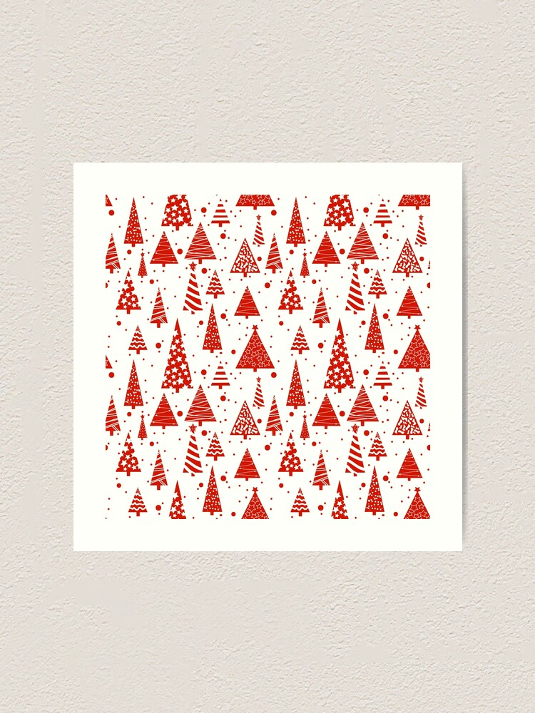 Alternate view of A Red Christmas Art Print
