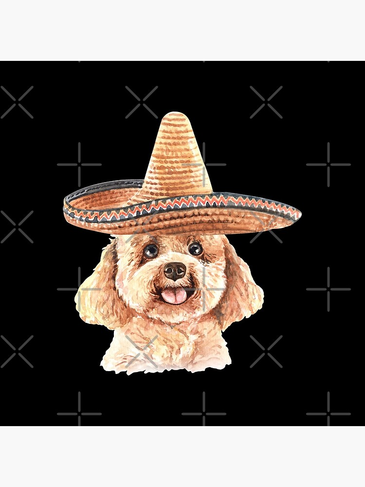Watercolor  Poodle Mexican Sombrero Hat by dog-gifts